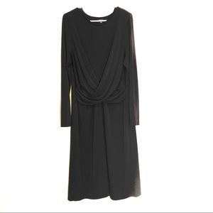 Ann Taylor |Black Cross Front Career Dress Size 16